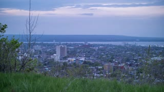 Day To Night Time lapse Of The City Of Hamilton Ontario 1 motion control
