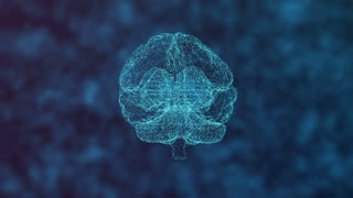 Humban Brain Digital Hologram Rotating With Moving Frequency In Background 01 Mov