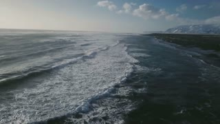 Iceland Aerial View Of Ocean Waves And Diamond Beach 3