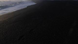 Iceland Black Sand Beach Shoreline With Crashing Ocean Waves On Sunny Day 3