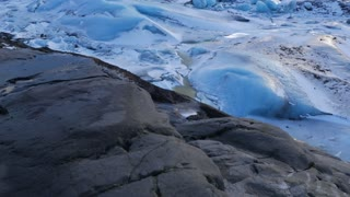 Iceland Blue Glacier Ice Chunks In Winter 8