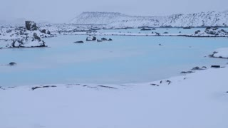 Iceland Blue Lagoon Geothermal Hot Spring Rocks And Sulfur Water In Winter 5
