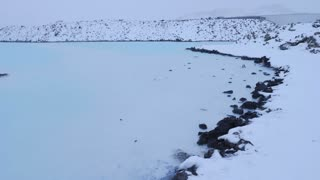 Iceland Blue Lagoon Geothermal Hot Spring Rocks And Sulfur Water In Winter 3