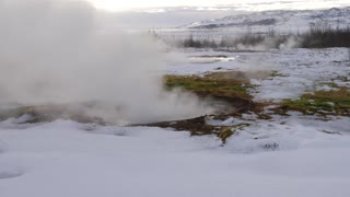 Iceland Boiling Water At Geothermal Pool 2