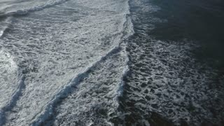 Iceland High Aerial View Of Rough Ocean Waves 1