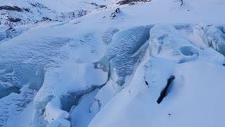 Iceland Large Blue Glacier In Winter 2