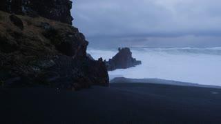 Iceland Rough Ocean Water At Djupalonssandur Black Sand Beach 1