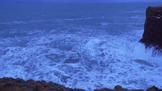 Iceland Rough Ocean Water Crashes Against Large Cliffs In Arnarstapi 1