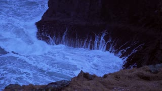 Iceland Rough Ocean Water Crashes Against Large Cliffs In Arnarstapi 2