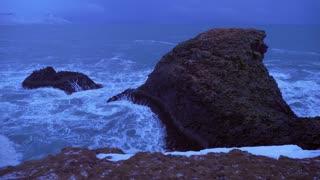 Iceland Rough Ocean Water Crashes Against Large Cliffs In Arnarstapi 4