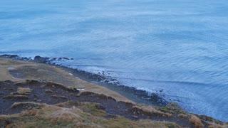Iceland View Looking Down At Ocean Shoreline 1