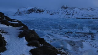 Iceland View Of Giant Blue Glacier Ice Chunks In Winter 9