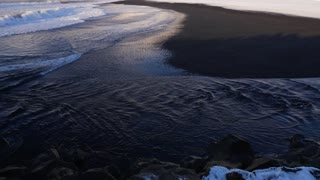 Iceland Vik Black Sand Beach View Of Ocean And Basalt Rock Formations 3