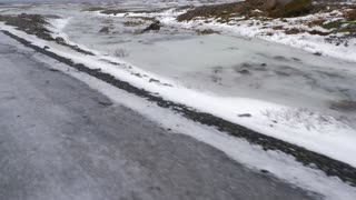 Iceland Winter View Of Snow Covered Lands And Natural Sulfur Pools 1
