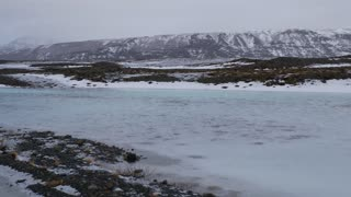 Iceland Winter View Of Snow Covered Lands And Natural Sulfur Pools 2