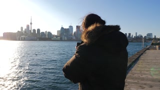 Photographer Taking Photo Of Toronto With Mobile Smart Phone 1