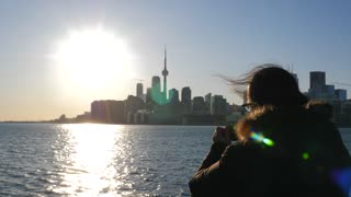 Photographer Taking Photo Of Toronto With Mobile Smart Phone 2