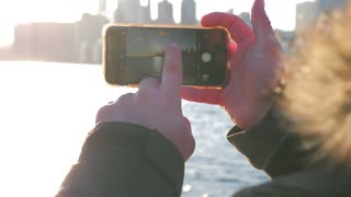 Photographer Taking Photo Of Toronto With Mobile Smart Phone 6