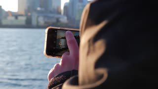 Photographer Taking Photo Of Toronto With Mobile Smart Phone 7