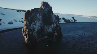 Sunny Aerial View Of The Hvitserkur Rock Formation In Iceland 1
