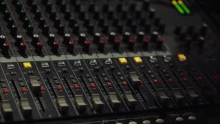 Mixing console, audio mixer, sound board, mixing deck or mixer