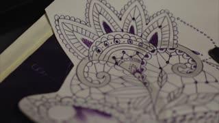 Tattoo sketch close up