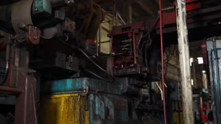 Details are fixed in this machine to weld its seams. Machine then rolls their seams.