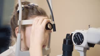 the ophthalmologist is engaged Biomicroscopy of an eye, the doctor checks and reveals diseases of the auxiliary apparatus of the organ of vision