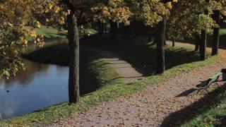 Autumn Park and Pond