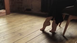 Beautiful Female Legs on Tiptoe Ballerina