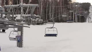 Chair Lift in the Ski Park