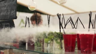 Cocktail With Dry Ice to a Street Fair