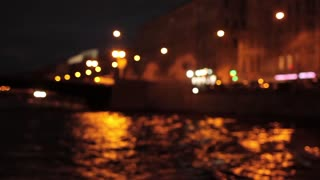 Night Saint Petersburg With Water