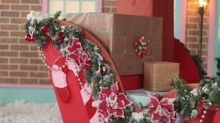 Santa's Sleigh With Presents Box