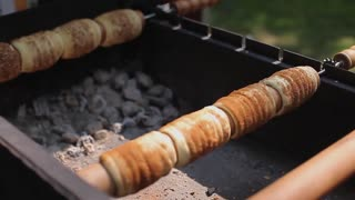 Sweet Pastries Prepared on Charcoal