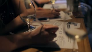 at Wine Tasting, People Fill Out a Questionnaire