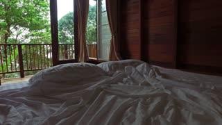 bedroom in a villa overlooking the tropics