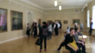 Blurred People in the Picture Gallery