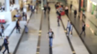 Blurred View of People in the Business Center