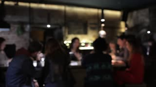 Blurred Wine Bar With People