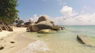 empty rocky tropical beach in Thailand