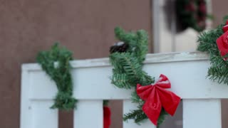 house with Christmas decorations
