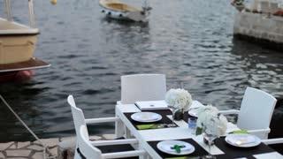luxury restaurant on the lake shore