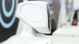 Modern Robotic Technologies. the robot turned toward the camera