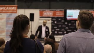 People at the Conference, the Presentation of a New Company