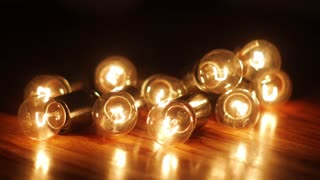 power failure, flicker of a garland of incandescent lamps