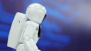 smart robot cosmonaut moving. Modern Robotic Technologies.