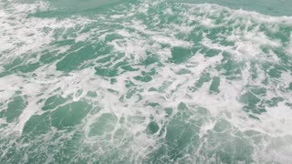 waves from a boat