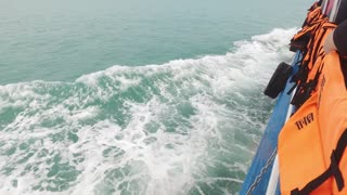 waves from a passenger ship