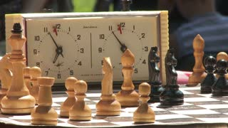 Chess game with time clock